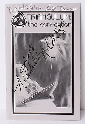 1986 Triangulum Convention STAR TREK Autograph Nichelle Nichols & Son Kyle