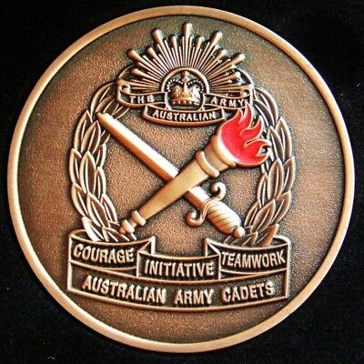 (AAC) Australian Army Cadets 2D Engraved Front  Plate Coin Medallion in Wallet