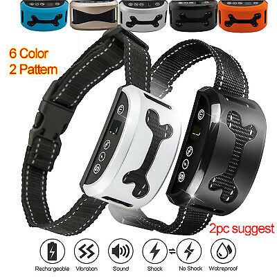 7Level Auto Anti Bark Collar Stop Dog Barking Waterproof Rechargeable Shock/safe