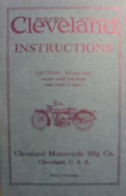 1925  1926 Cleveland Motorcycle Instruction Owner's Manual