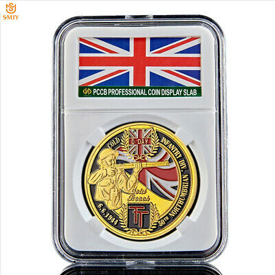 1944.6.6 WW II D-Day Normandy Landing Campaign Gold Challenge Commemorative Coin