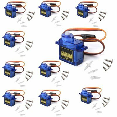 1/2/4/5/10/12/15X 9G SG90 Mini Gear Micro Servo Motor Robot Helicopter T Rex 450