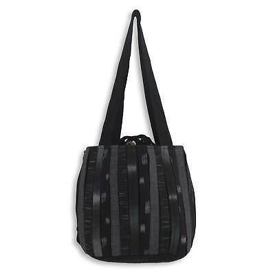 Cotton Shoulder Bag 'Orient Black' Hand Woven NOVICA Thailand 3 Pockets