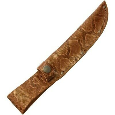 "Sheaths Straight 6"" Brown Python Leather Python Fixed Blade Knife Sheath"