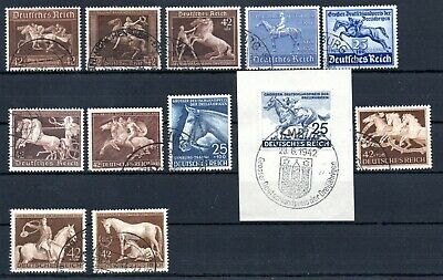 Germany , Third Reich , 1936 , 1938 , 1939 , 1940 - 44 , All Horse Stamps , Used