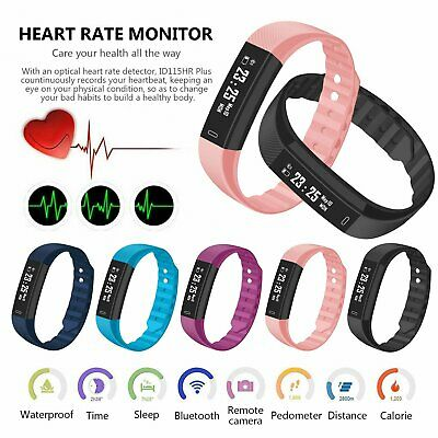 SMART FITBIT Bluetooth Heart Rate Blood Pressure Fitness Tracker watch ID115 New