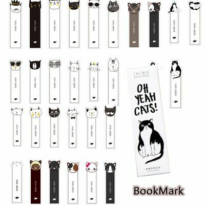 & School Supplies Stationery New Cat Head Bookmark Message Card Book Holder