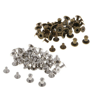 40 Sets Screw Rivets Alloy Stud Button for Leather Craft Decor/ Bag Ornament
