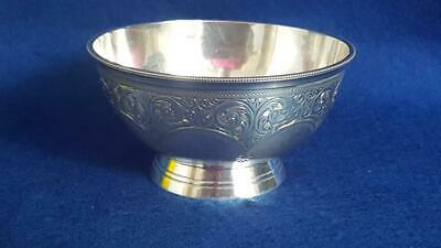 Top Quality Antique Victorian H/M Sterling Silver Footed Bowl Ldn 1878 157g