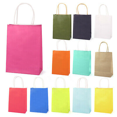 Lovely Party Bags Paper Gift Bag Twisted Handles Recyclable Birthday Shopping