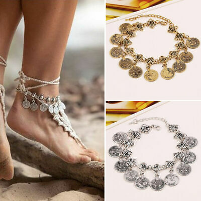 GYPSY COIN SEXY Fashion Ankle Bracelet Women Anklet Foot Jewelry Chain Beach