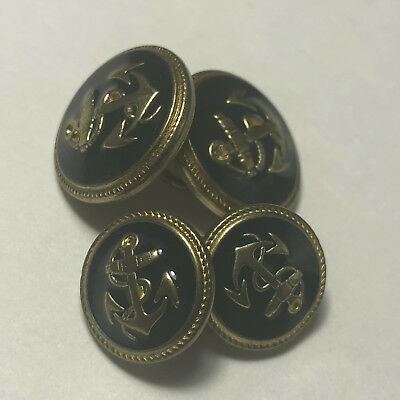 BUTTONS MIXED LOT vintage sewing collectibles black gold navy anchor military 3