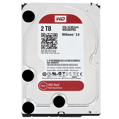 Western Digital WD20EFRX Red 2TB NAS-Festplatte SATA 6Gb/s HDD