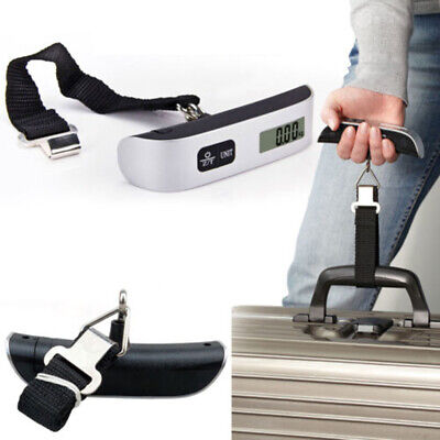 110lb/50kg Mini Portable Travel Electronic LCD Digital Hanging Luggage Scale