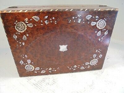 Antique Writing Slope Box , Mother of Pearl ,