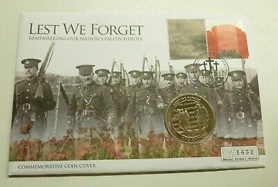 Lest We Forget End of WWI 90th Anniversary Gibraltar Crown 2008 Coin Cover PNC A