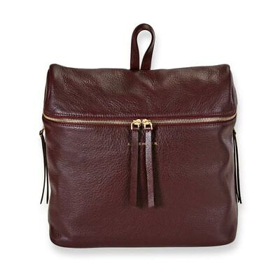 Levenger Carrie Leather Backpack-Oxblood