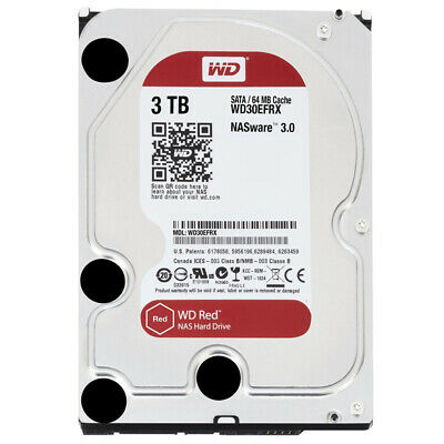 Western Digital WD30EFRX Red 3TB NAS-Festplatte SATA 6Gb/s HDD