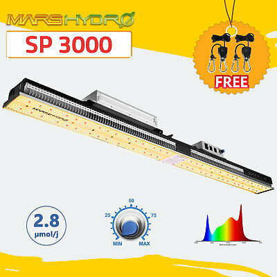 MARS HYDRO SP-250 LED Grow Light Full Spectrum Bar Strip Hydroponics Indoor  Kit