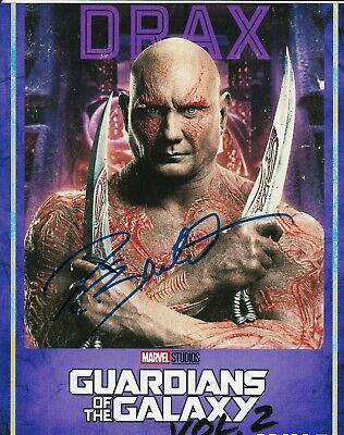 DAVE BAUTISTA signed (GUARDIANS OF THE GALAXY) DRAX 8X10 Avengers photo W/COA #1