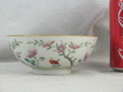 19Th C Chinese Porcelain Famille Rose Wavy Edge Bowl - Marked