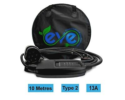 EV Charging Cable, Volkswagen Golf GTE, TYPE 2, UK 3 pin plug 10m charger