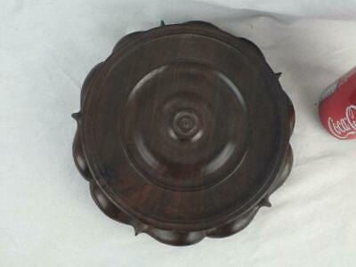 """Heavy 19Th C Chinese Carved Hardwood Stand 7 - Inner Diameter 6.75"""""""