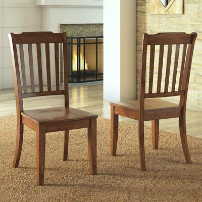 Weston Home Farmhouse Spindle Back Dining Chair - Set of 2