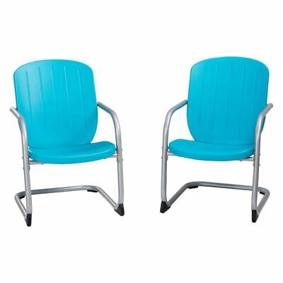 Lifetime Retro Steel Patio Dining Chairs - Set of 2