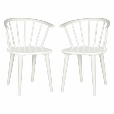 Safavieh Blanchard Curved Spindle Side Dining Chair - Set of 2