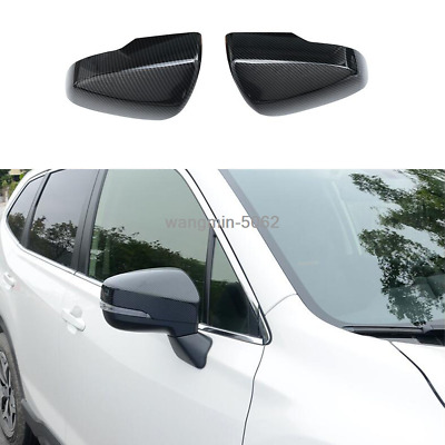 2x For Subaru Forester 2019 Carbon Fiber Style Rear View Mirror Cover Trim 2pcs