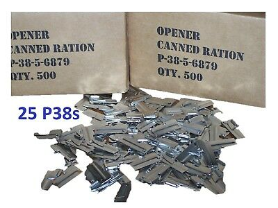 P38 P-38 Shelby Ouvre-Boîte Pack 25 Mess Ration Kit Scout Militaire C Ration