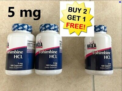 Haya labs 5mg yohimbine HCL 100 caps x 5 mg  Special offer *** Buy 2 get 3 ****