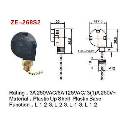3SD PULL CHAIN FAN SWITCH dual capacitor Westinghouse ... Hampton Bay Wiring Diagram Westinghouse on