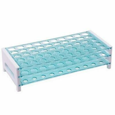 Aquamarine Plastic Test Tube Rack for 12-13 MM Test Tubes, 50 Hole