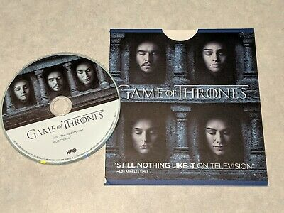 GAME OF THRONES GOT HBO For Your Emmy Consideration FYC DVD Season 6, 2 Episodes