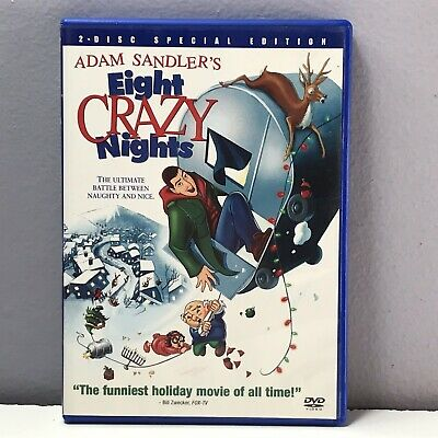 Adam Sandler Eight Crazy Nights DVD Animated 2-disc Special Edition 8 Nearly New