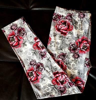 c59ab5816351e7 Buttery soft grey goth skull floral print extra plus size leggings 3X to 4X