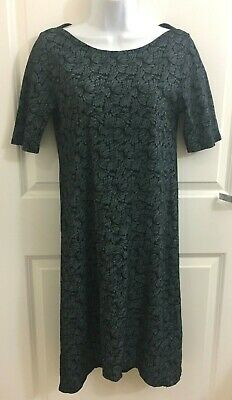 Fresh Produce Womens Stretch Cotton Short Sleeve Black Blue Beach Dress size XS