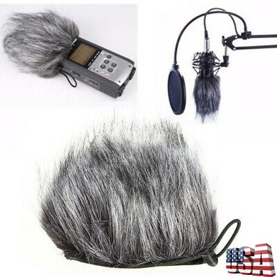 Anti-Wind Microphone Mic Muff Fur Windshield Cover For H1 H2N H4N Recorder Zoom