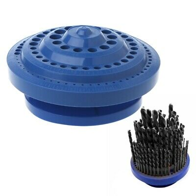 Plastic Drill Bit Storage Case Stand Round Shape Hard Organizer 100Pcs Hole Tool