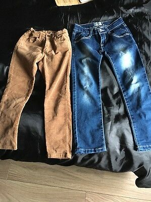 Two Pair Of Girls Jeans Age 6-7
