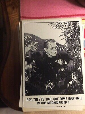 B6c Trade Card Topps USA You'll Die Laughing Creature Feature No 1