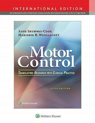 Motor Control : Translating Research into Clinical Practice, Hardcover by Shu...