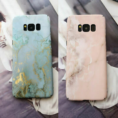 Marble Back Case For Samsung Galaxy S10 Plus S10E S9 S8 S7 Shockproof Hard Cover