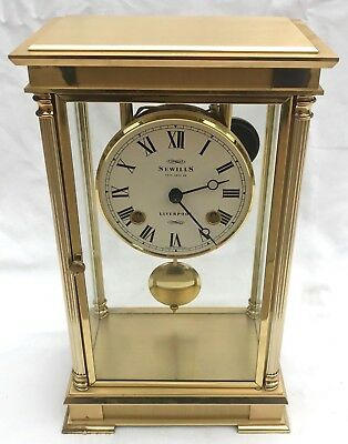 SEWILLS LIVERPOOL Four Glass Brass TING TANG Striking Bracket Mantel Clock