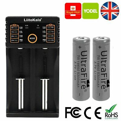 2 Genuine Samsung 30Q 18650 Battery And Charger IMR 3000mAh 20A Lii-202 Vape