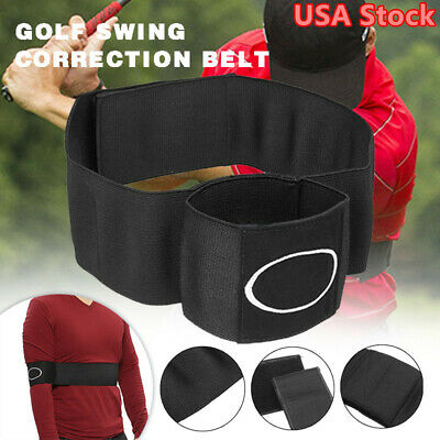 Golf Swing Trainer Arm Motion Correction Belt Training Aid Posture Strike USA