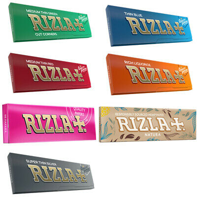 5 x Rizla Rolling Papers Regular - Green Red Blue Pink Liquorice Silver Natura