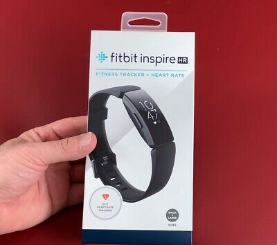 Fitbit Inspire HR Fitness Tracker - One Size (S & L Included) - BLACK - NEW